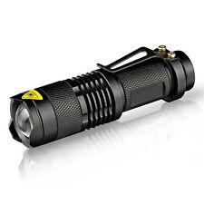 7W 300 Lúmenes LED Mini Linterna Ajustable Focus Zoom CREE Q5 Lámpara