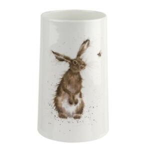 Royal Worcester Wrendale Designs Hare & Bee Medium Flower Vase White