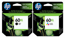 GENUINE NEW HP 60XL (CC641WN/CC644WN) Ink Cartridge 2-Pack