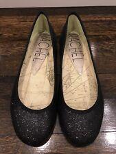 New Rachel Roy Black Sparkle ballet flat shoes size 8