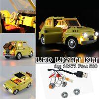 LED Light for LEGO 10271 Expert Fiat 500 Model car Building Blocks Toys Bricks
