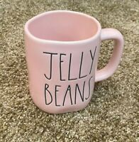 RAE DUNN MAGENTA FHLL JELLY BEANS PASTEL PINK GLOSSY CERAMIC COFFEE MUG EASTER