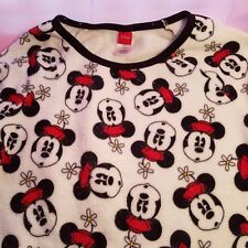 Girl's Juniors Disney Mickey Mouse Long Sleeve Pullover Polyester Sweater Size L