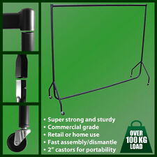 TOP 4ft Heavy Duty Garment Rail Hanging Clothes Portable Home Use Retail Display