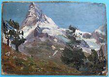Impressionismus Ölgemälde Matterhorn Waliser Alpen Schweiz Margarethe Hamm ~1925