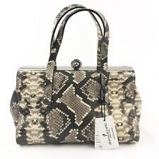 Alberta Di Canio Stecca Snake Leather Doctor Handbag Retails For $250