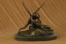 Extra Large Riche Cupid and Psyche Romance Romantic Bronze Sculpture Art Figure