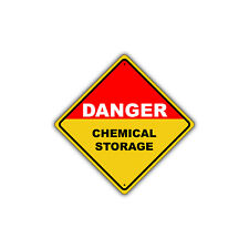 Danger Chemical Storage Metal Aluminum Sign 12x12