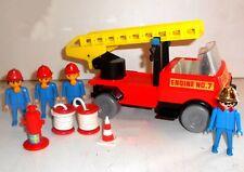 Vintage 1974 Marx / Geobra / Playmobil / Playpeople ~ #1755 - FIRE ENGINE No.7