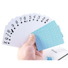 Waterproof Plastic Poker Playing Cards, Black PVC Poker Table Cards Classic M...