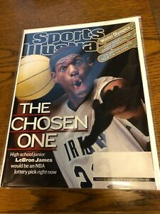February 18, 2002 LeBron James High School RC 1ST Sports Illustrated NO LABEL WB