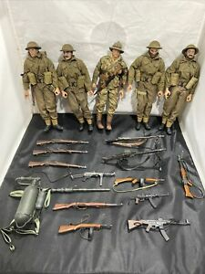 "Lot of 21st CENTURY TOYS - 1/6 12"" Figures WWII Ultimate Soldiers & Accessories"