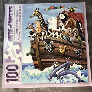 """BITS & PIECES 100 PIECE PUZZLE ~NOAH'S ARK ~15"""" X 19""""~All Pieces Accounted For"""