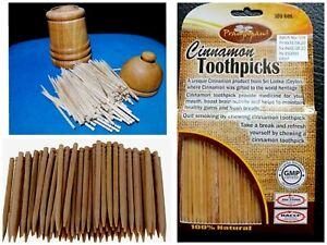 100 pcs Natural Ceylon Cinnamon Toothpicks New ayurvedic sticks Traditional 100%