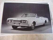 1967 OLDSMOBILE CUTLASS SUPREME CONVERTIBLE    11 X 17  PHOTO   PICTURE