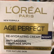L'Oreal Age Perfect Re-Hydrating Night Cream for Mature Skin - 50ml - Sealed