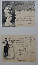 GERBAULT H.: CARTES D'INVITATION LITHOGRAPHIE 1897 PROGRAMMES ILLUSTRéS MAINDRON
