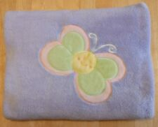 """Northpoint Purple Fleece Baby Blanket Throw Green Yellow Butterfly 38""""x28"""" Lilac"""