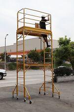 Scaffold Rolling Tower with Hatch Decks & Guard Rail 12' High Deck Cbm Scaffold