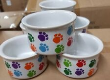 PAW PRINT 🐾 CERAMIC BOWLS For Your Loved Pets Cats,Dogs,Rabbit,mice's, Etc.