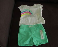 Jumping Beans 12m girls Rainbow Cloud shirt with matching pants