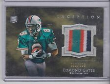 2011 Topps Inception Edmond Gates 4 color patch Rookie 82/158 Miami Dolphins