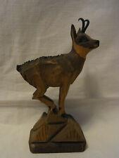 Vintage German Black Forest Carved Wood Chamois #K