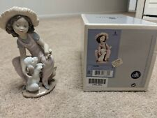 """Lladro Figurine #6680 """"Friends Forever"""" Mint, Retired Girl With Puppy"""