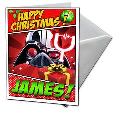 Angry Birds Star Wars-Personalizado De Tarjetas De Navidad-Hijo, Hija, Sobrina