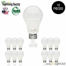 12 X 9W A19 SlimStyle LED Light Bulb 60W Equivalent 2700K or 5000K Energy Saver