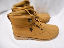 US Polo Assn. Tan Lace Up Work Boots Size 10.5