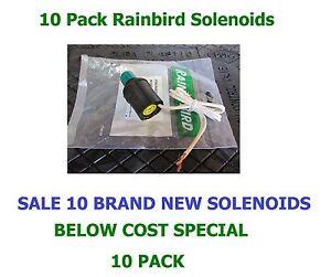 10 Pack Rainbird 700 751 900 950 EAGLE Rotor Golf Black Solenoid GBS