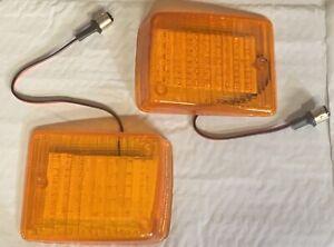 VW Bus Transporter TYPE2 BUS 1973-1979 front turn signal lenses Pair Amber LED