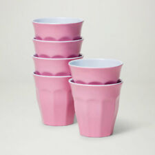 Barel Designs Classic Pink Melamine Tumblers 260mL - Set of 6 Picnic Cups