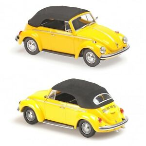 1/43 Maxichamps VW Volkswagen 1302 Cabriolet 1970 Yellow Shipping Home