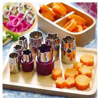 8pcs Stainless Steel Flower Shape Rice Vegetable Fruit Cutter Mold Slicer Set