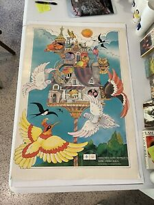 Original Vintage 1976 Montreal Official olympic Poster - By Frischeteau Quebec