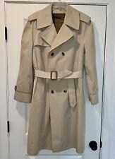 Vintage Womens Belted Trench Great Dane Year Round Coat Cosmopolitan Mfg Boston