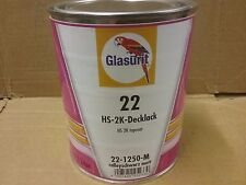Glasurit 22 LINE 22-1250-m 1 Litro RALLY NEGRO MATE HS Resistente Color Basf