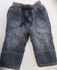 Boys jeans denim warm lined ribbed waist M & S Baby 12 18 24 months 2 3 years