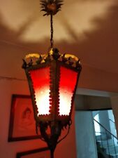 Red Antique Lamp Sconce candle holder candlestick chandelier illumination 1930´s