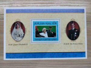 Norfolk Island 1997 Golden Wedding of Queen Elizabeth souvenir sheet MNH