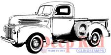 Deep Red Stamps Classic Pickup Rubber Cling Stamp