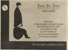 18/9/82Pgn19 Advert: Tears For Fears New Single mad World 7x11