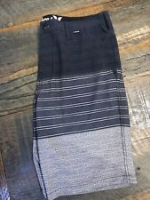 "Men's Hurley Phantom Quick Dry 20"" Stretch Walk Shorts Size 32 -Gray striped"