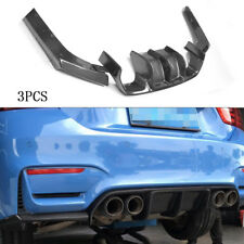3PCS Carbon Fiber Rear Bumper Diffuser Lip Refit for BMW F80 M3 F82 M4 15-19