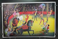 Ancien affiche scolaire Ogé-Hachette 1960 - 1 la chambre d'enfant -32 le cirque