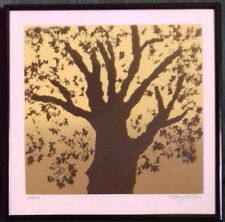 MARY GOSLEN - TREE. SIGNED LIMITED 107/150. SILKSCREEN/SERIGRAPH. USA. FRAMED.