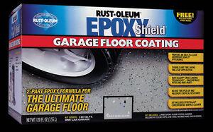 EPOXY SHIELD Garagenboden Beschichtung, Grau Semi-Gloss Rust Oleum Epoxid
