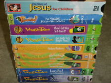 Veggie Tales 9 VHS Toy Saved Christmas Truth Silliness 2 Thankful Handling Fear